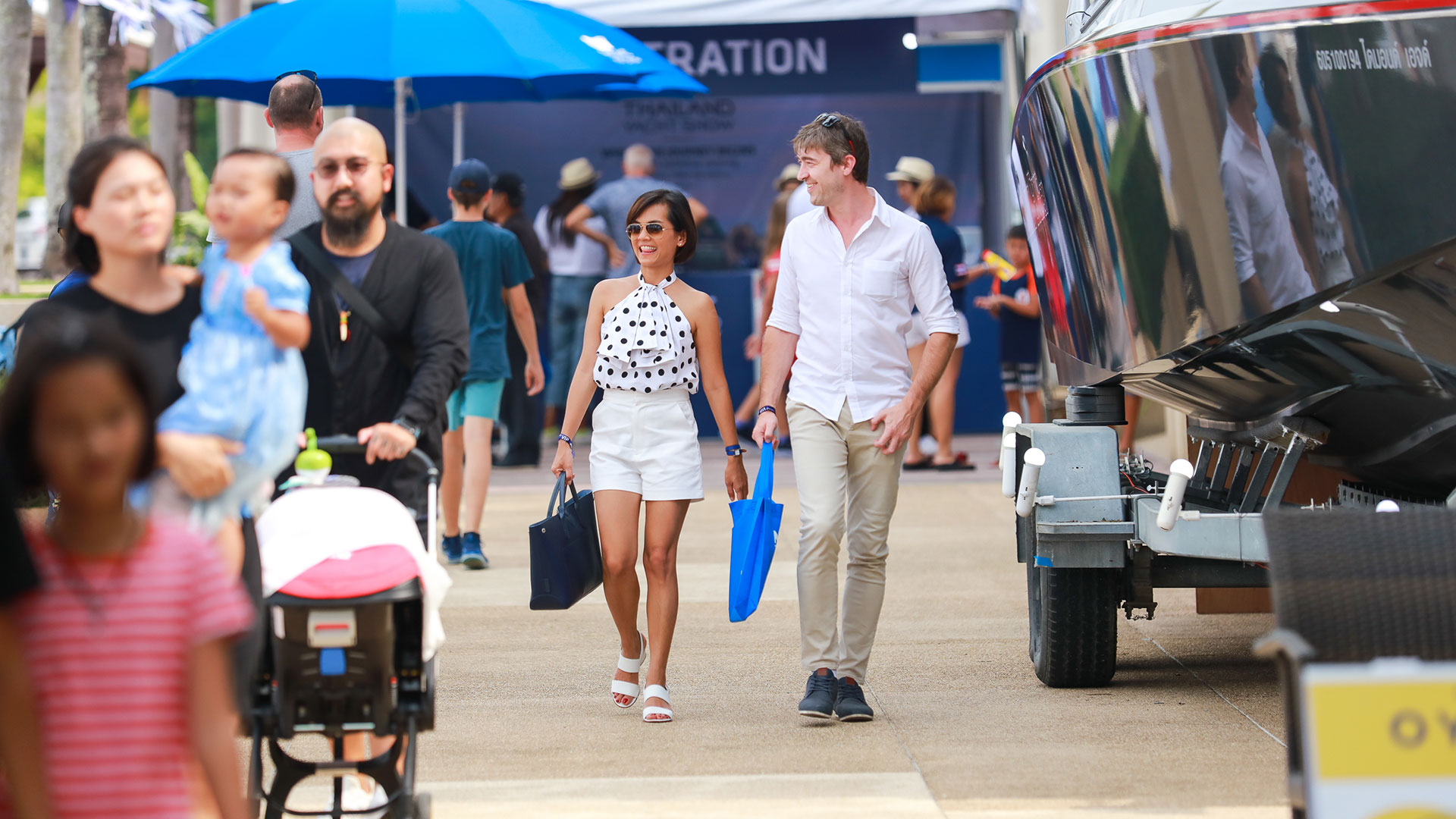 The boardwalk at The Thailand International Boat Show
