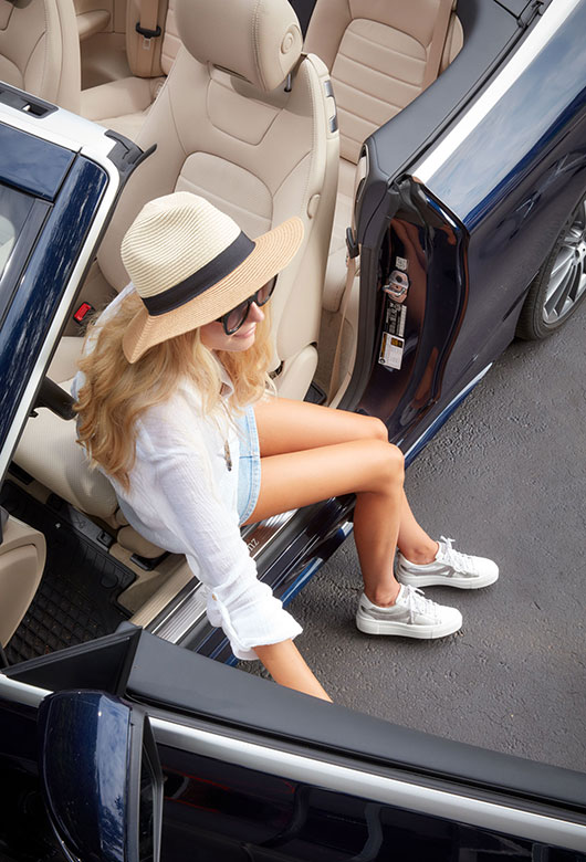 Luxury cars at The Thailand International Boat Show